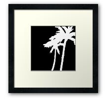 White and Black Palms Blowing In The Wind Framed Print