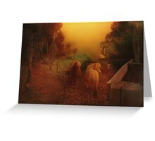 Misty Sundown Greeting Card