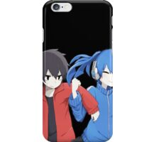 ene grabbing shintaro cute chibi! iPhone Case/Skin