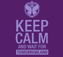 Keep Calm and wait for Tomorrowland festival - Purple Women's Fitted Scoop T-Shirt