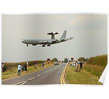 AWACS landing at RAF Waddington Poster