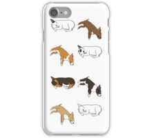 Lazy Bull Terrier - White iPhone Case/Skin