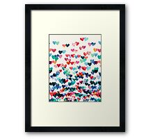 Heart Connections - Watercolor Painting Framed Print
