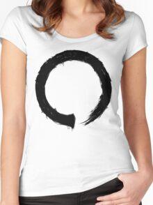 Zen Enso - Black Grunge Women's Fitted Scoop T-Shirt