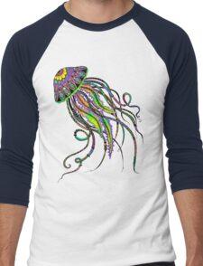 Electric Jellyfish Men's Baseball ¾ T-Shirt