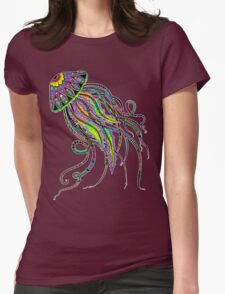 Electric Jellyfish Womens Fitted T-Shirt