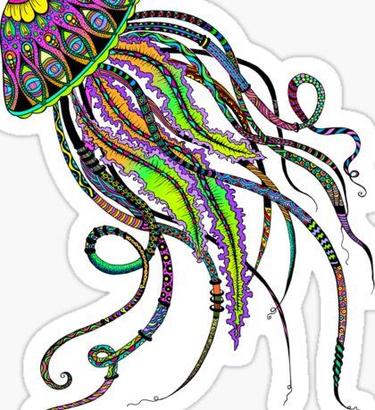 Electric Jellyfish Sticker