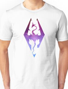 Skyrim Logo - Purple gradient Unisex T-Shirt