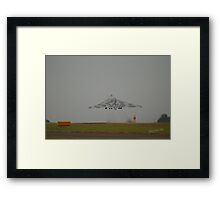 Vulcan leaving RAF Waddington for the last time Framed Print