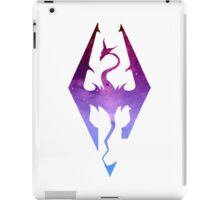Skyrim Logo - Purple gradient iPad Case/Skin