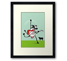 Who the moo are you?! Framed Print