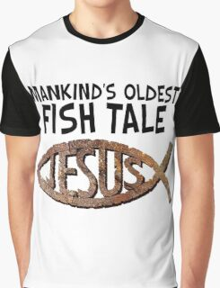 FISH TALE FOSSIL Graphic T-Shirt