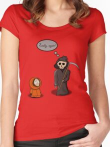 Kenny - Meet with Death Women's Fitted Scoop T-Shirt