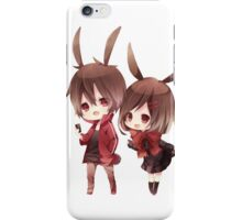 shintaro and ayano chibi  iPhone Case/Skin