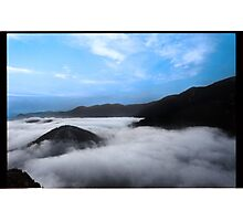 Above the Cloud, Under the Sky. Photographic Print