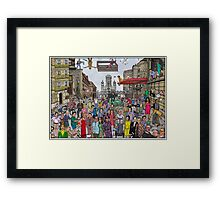 Funny TV and movie stars Framed Print