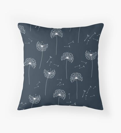 Floral pattern of dandelions Throw Pillow