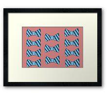 Retro bow tie poster Framed Print