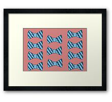 Retro bow tie poster Framed Print