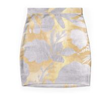 Abstract gold silver pattern,floral,shadow design Mini Skirt
