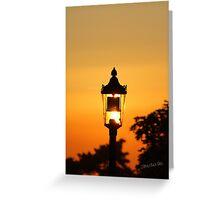 Streetlight Sunset Greeting Card
