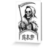 Death with a Scythe Greeting Card