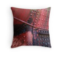 Red Rivets Throw Pillow