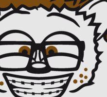 nerd musik klavier keyboard tanzen band konzert disko club tasten party haariger kleiner süßer niedlicher igel comic cartoon  Sticker