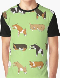 Lazy Bull Terrier - Green Graphic T-Shirt