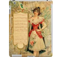 Vintage collage,rustic,grunge,beautiful girl,parchment, iPad Case/Skin