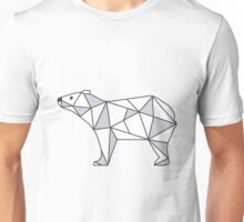 Pattern with small Bear. Black and white freehand drawing Unisex T-Shirt