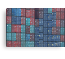 Container Tetris Canvas Print