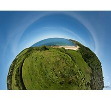Kinnagoe Bay (as half a planet :-) Photographic Print
