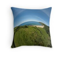 Kinnagoe Bay (as half a planet :-) Throw Pillow