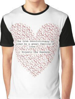 Revolutionary Love Che Guevara Heart Graphic T-Shirt