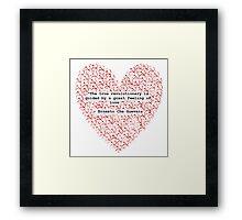 Revolutionary Love Che Guevara Heart Framed Print