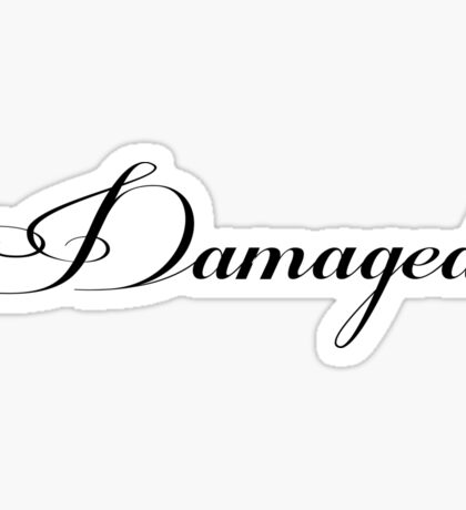 DAMAGED - white vrs. Sticker