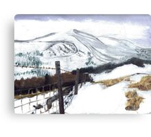 Snow and Mountains Metal Print