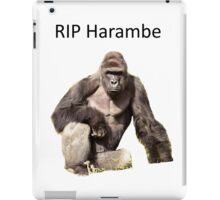 Harambe Tribute iPad Case/Skin