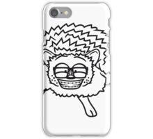 nerd geek hornbrille pickel freak spange schlau intelligent grinsen lustig comic cartoon süßer kleiner niedlicher igel  iPhone Case/Skin