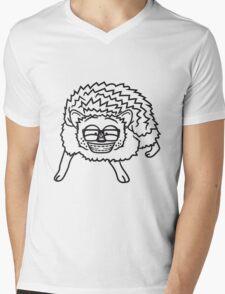 nerd geek hornbrille pickel freak spange schlau intelligent grinsen lustig comic cartoon süßer kleiner niedlicher igel  Mens V-Neck T-Shirt