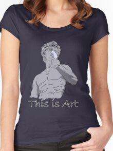 Spongebob - This is Art Women's Fitted Scoop T-Shirt