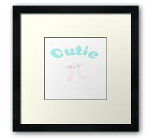 Cutie pi Framed Print