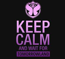 Keep Calm and wait for Tomorrowland festival - Purple gradient Women's Fitted Scoop T-Shirt