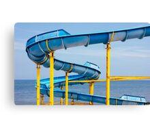 Blue Water Slide Canvas Print