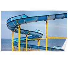 Blue Water Slide Poster