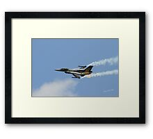 Turkish F16 at Waddington Airshow Framed Print