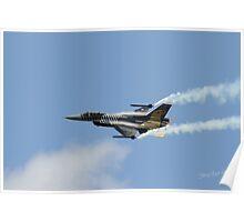 Turkish F16 at Waddington Airshow Poster