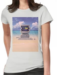 Vaporwave Macintosh - No Text Womens Fitted T-Shirt