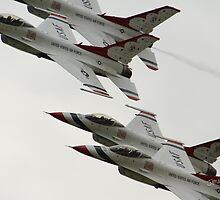 Thunderbirds at Waddington Airshow by Jonathan Cox